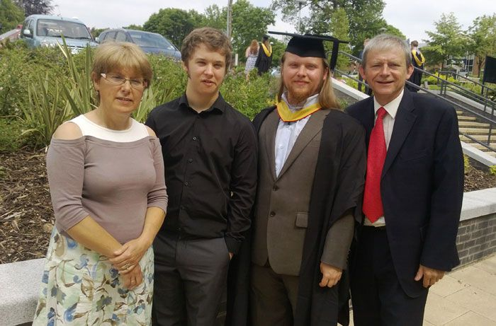 The Hilltop Classics family team at graduation ceremony