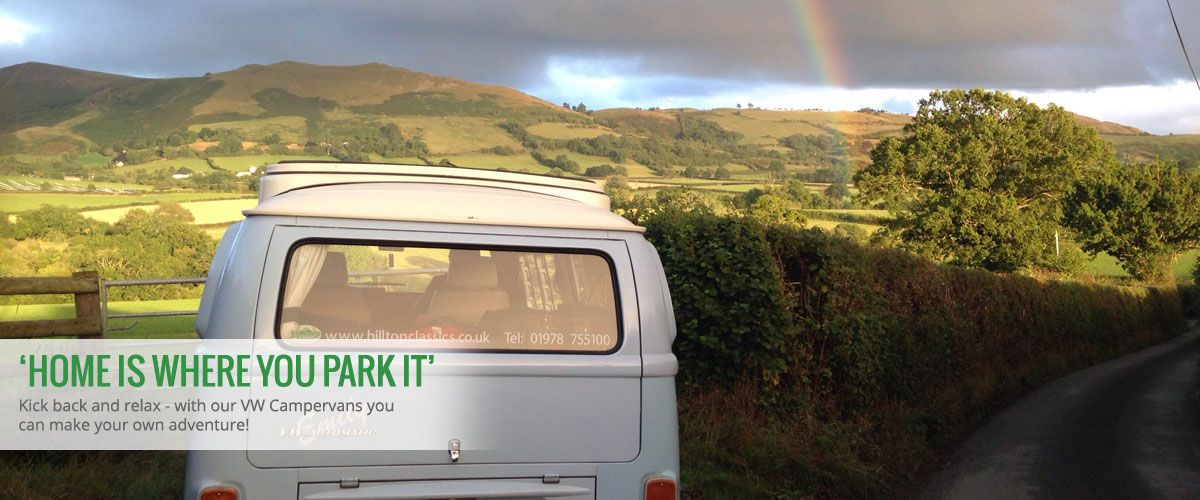 'Home is where you park it' - Kick back and relax - with our VW Campervans you can make your own adventure!