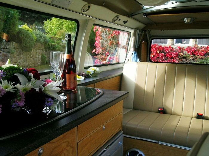 Emily, bay window VW Campervan interior