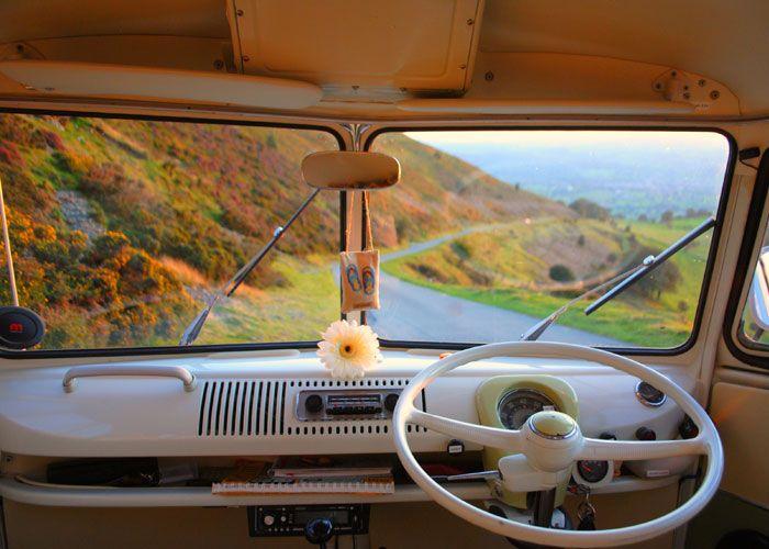 Vintage Split Screen or Classic Bay Window VW Campervans for Holiday