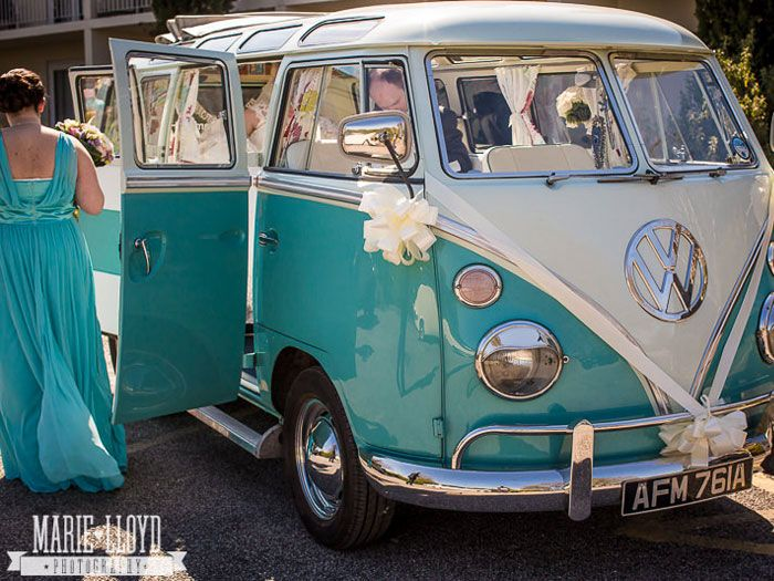 Lucy, split screen VW Campervan exterior