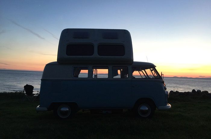 VW Campervan being used for holiday hire in North Wales