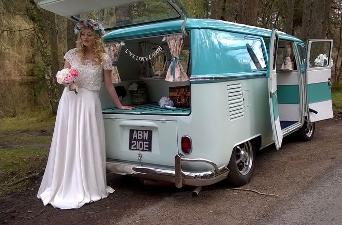 VW Campervan wedding hire in North Wales