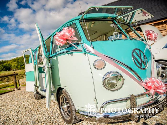 Rose, split screen VW Campervan exterior